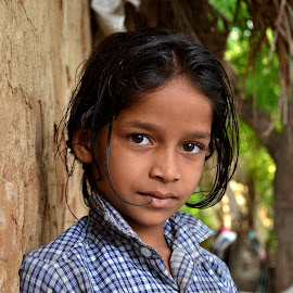 A Village Girl by Rams Ramanathan - Babies & Children Child Portraits