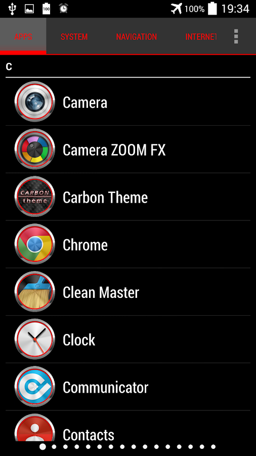 Carbon Theme for Apex Nova ADW Screenshot 3