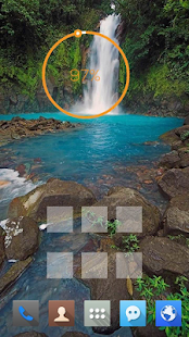Blue Lake Waterfall theme - screenshot
