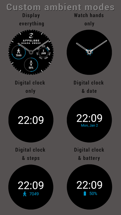 ? Ksana Sweep Watch Face for Android Wear Screenshot 5