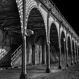 The Arches by Louise Yates - Buildings & Architecture Architectural Detail ( #brighton #thearches #blackandwhite #shadows )