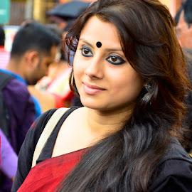 Attitude matters a lot  by Santanu Goswami - People Portraits of Women ( girl, woman, bengali, people, portrait )