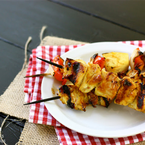 Grilled Honey Mustard Chicken Kebabs