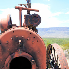 Forgotten Machine by Amanda Crippes - Transportation Other ( old, desert, red, fire truck, rust )