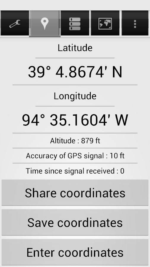 Share My GPS Coordinates Pro Screenshot 3