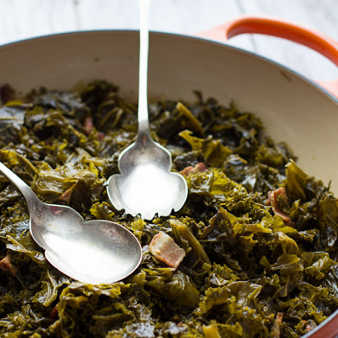 Southern-Style Beer Braised Kale with Bacon