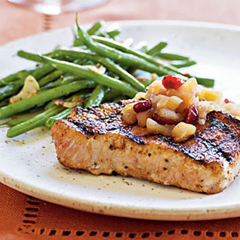chutney pork chops with tomato chutney roasted pork chops with hard ...