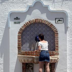 Thirsty in Nerja, Spain by Francis Xavier Camilleri - City,  Street & Park  Street Scenes
