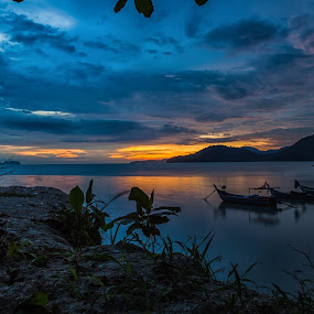 Sunset @ PDL by P Hin Cheah - Landscapes Sunsets & Sunrises ( sunset, penang, landscape, pdl, permatang damar laut )