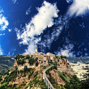 Bagnoregio by Marco Caciolli - City,  Street & Park  Vistas ( sky, bagnoregio, blue, travel, italy, city )