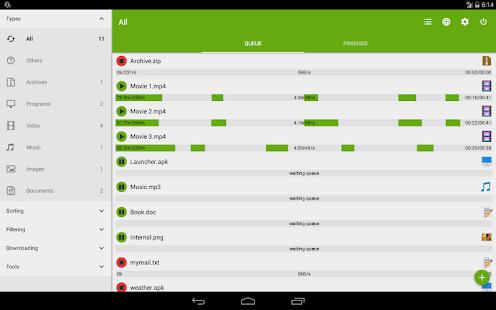 Advanced Download Manager – Miniaturansicht des Screenshots