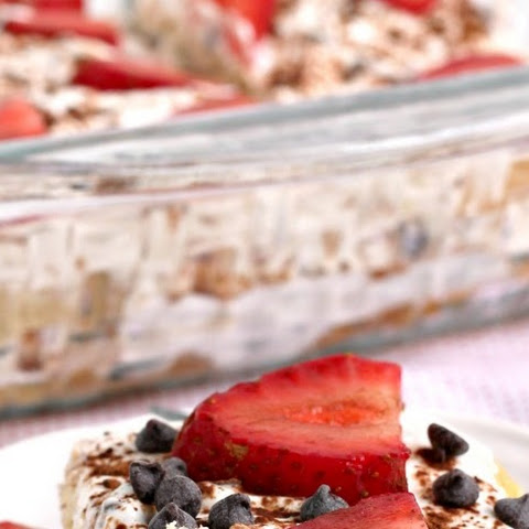 Strawberry Cannoli Tiramisu