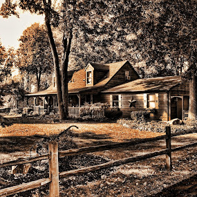 Country Living by Irma Mason - Buildings & Architecture Homes ( home, hdr, nature, vintage, log cabin, country, , Spring, springtime, outdoors )