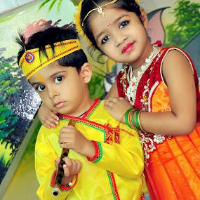 darsh and Priyal by Basant Malviya - Uncategorized All Uncategorized ( portrait, kids )