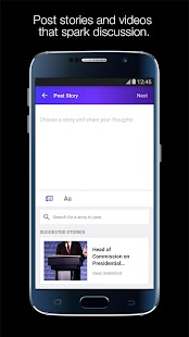 Yahoo:Newsroom for Communities for Lollipop - Android 5.0