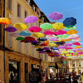 Arles - Au bar du marché by Gérard CHATENET - City,  Street & Park  Street Scenes