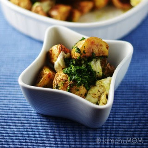 Indian Spiced Roasted Potatoes with Green Chutney #SundaySupper #FWCon