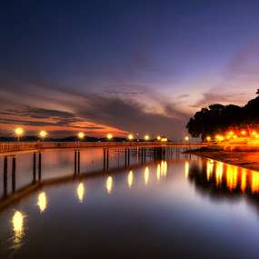 Changi Broadwalk by Nicholas Leong - Landscapes Sunsets & Sunrises