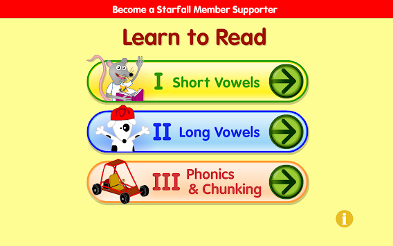 Starfall Learn To Read APK screenshot thumbnail 1