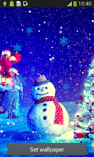 Snowman Live Wallpapers - screenshot