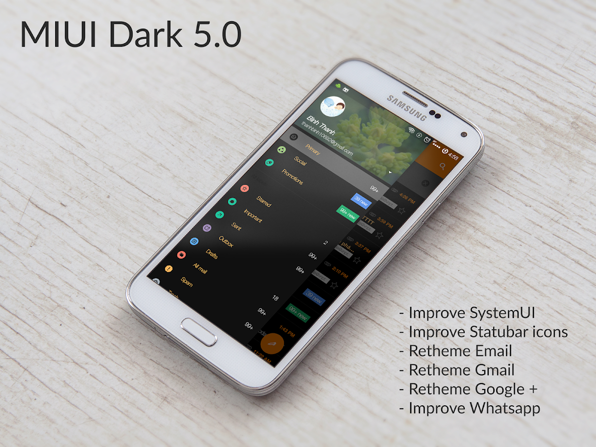 CM12.x/CM13 MIUI Dark Screenshot 0