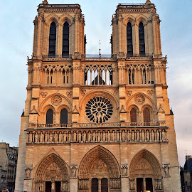 Notre Dame de Paris by Dobrin Anca - Instagram & Mobile iPhone ( prayer, sky, france, cathedral, city )