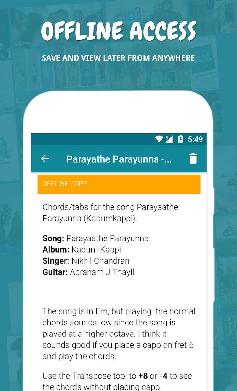 Naadan Chords Screenshot 1