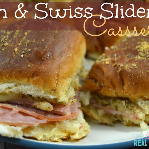 Ham and Swiss Sliders Casserole