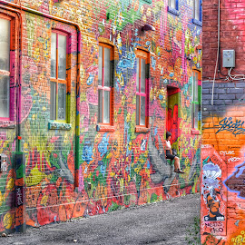 Graffiti Alley in Toronto by Akhil Munjal - City,  Street & Park  Street Scenes ( grafitti, toronto, street art )