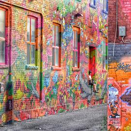 Graffiti Alley in Toronto by Akhil Munjal - City,  Street & Park  Street Scenes ( grafitti, toronto, street art )