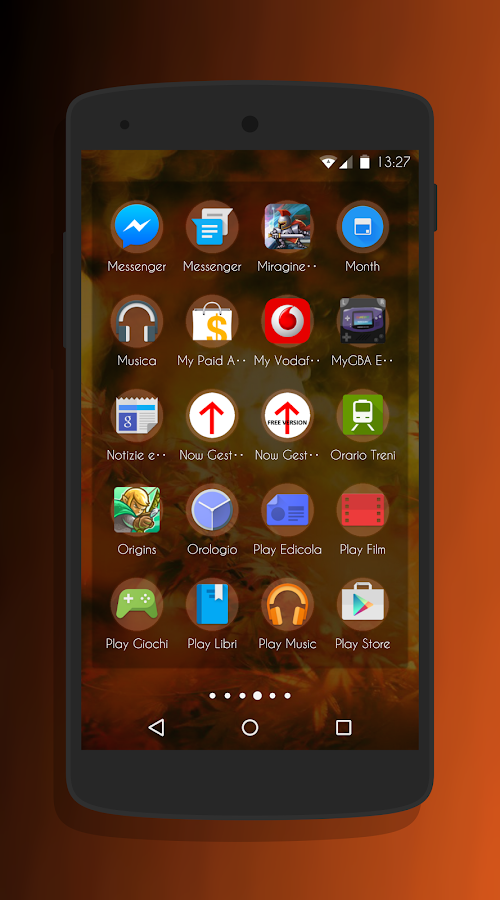 Transparent Orange -CM13 Theme Screenshot 5