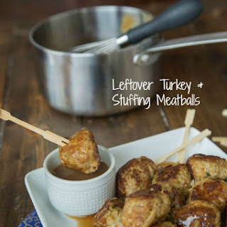 Leftover Turkey and Stuffing Meatballs