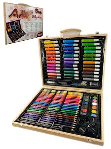 """Игровой набор серии """"Для творчества"""" 150 предметов в деревянном кейсе"""