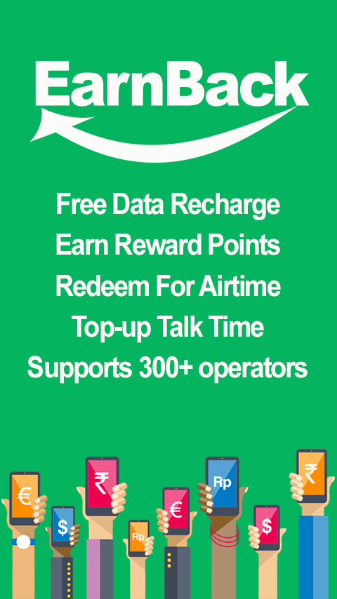 EarnBack - Free Data Recharge Screenshot