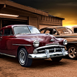 Kyle's Plymouth by JEFFREY LORBER - Transportation Automobiles ( jeffrey lorber, 1952, vintage car, rusrt 'n chrome, plymouth, lorberphoto, old car )
