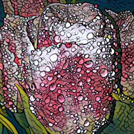 Rain Drops in Spring by Roxanne Dean - Digital Art Things
