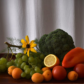 by Helena Jirasová - Food & Drink Fruits & Vegetables ( still life with fruits and vegetables )