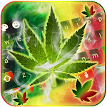 Weed Rasta Ganja Smoke Keyboard Icon