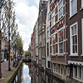 Delft, canal by Anita Berghoef - City,  Street & Park  Historic Districts ( reflection, the netherlands, neighborhood, architectural, architectural detail, architecture, canal, delft, city )