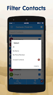 Delete Multiple Contacts Screenshot