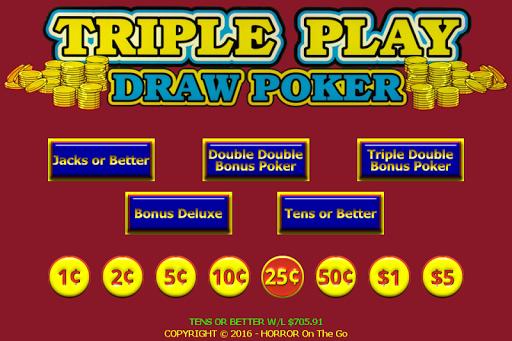 Triple 3 Play Draw Poker - screenshot