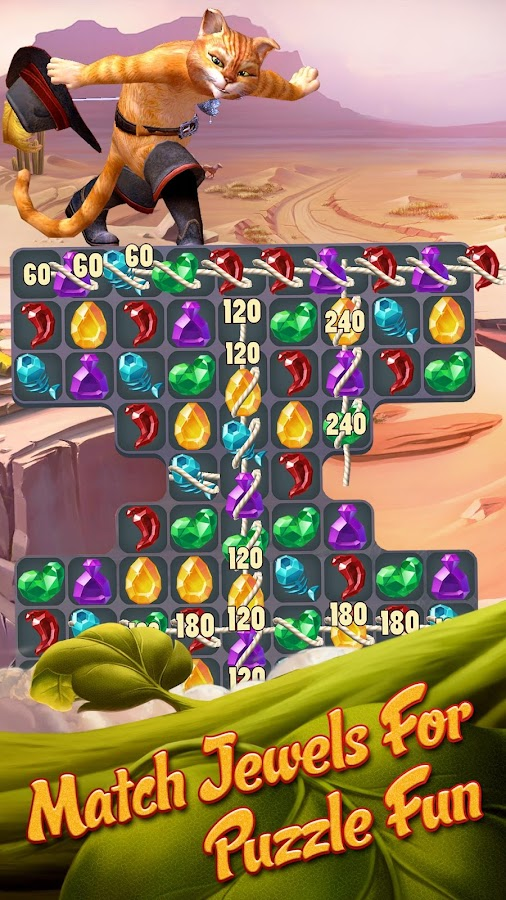 Puss In Boots Jewel Rush Screenshot 1