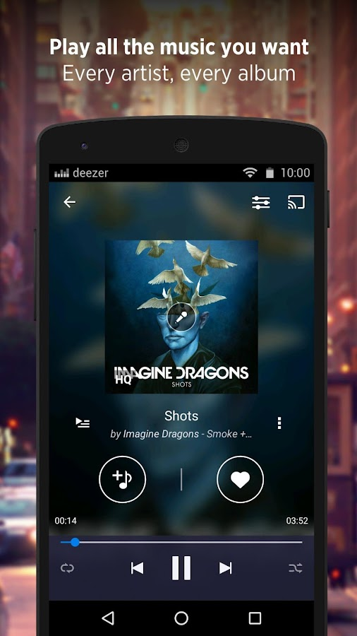 Deezer - Songs & Music Player Screenshot 0