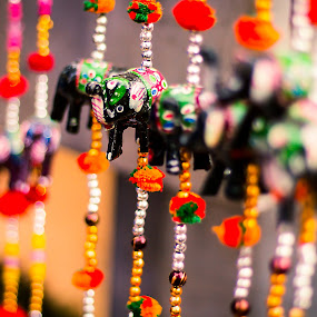 Elephant Hangings by Gurucharan Shamji - Artistic Objects Other Objects ( hangings, elephant, street )