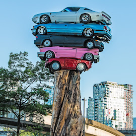 Stacked Cars by Peter Murphy - Artistic Objects Other Objects