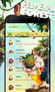 (FREE) GO SMS PRIMEVAL FOREST THEME APK for Bluestacks