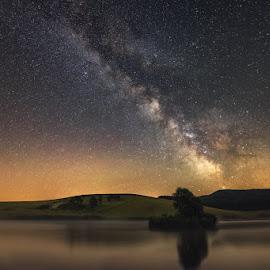 The Milky Way by Babus Patrik - Landscapes Starscapes ( milkyway, starlight, sigma, stars, way, lake, nikon, light, longexposure, milky )