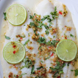 Thai Steamed Fish with Lime, Garlic, and Chilies - Pla Nueng Ma-Nao (ปลานึ่งมะนาว)