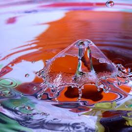 Water Drop by Liana Lputyan - Nature Up Close Water ( water drop art colors )