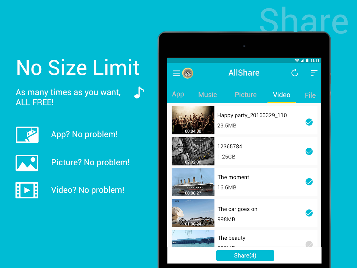 All Share - Apps&File Transfer Screenshot 4